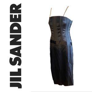 JIL SANDER black bustier dress